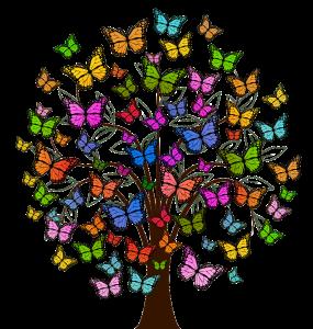 Albero di farfalle